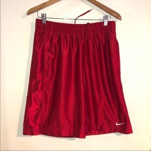Mens Red Nike Basketball Shorts Size Medium